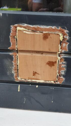 stukje hout inzetten